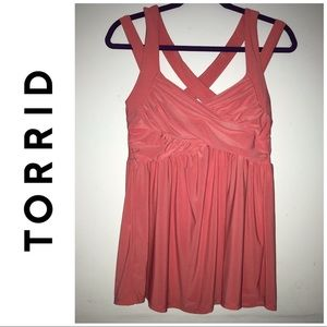 NWT Torrid Pink Ruched Strappy Tank Top 0 Large